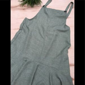 EASEL midi loose fit overall jumper dress